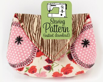 Owl Coin Purse PDF Sewing Pattern | Sewing tutorial to make a coin purse change pouch.