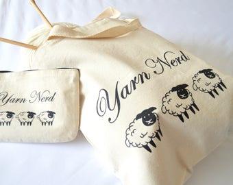 Yarn Nerd Canvas Project Bag