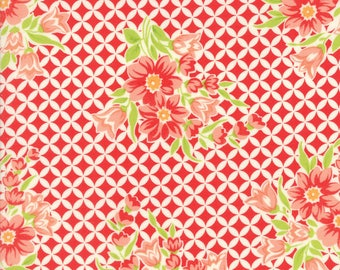 SPRING SALE - 5 Yards - 55146 11 - Handmade in red - Bonnie and Camille for Moda Fabrics