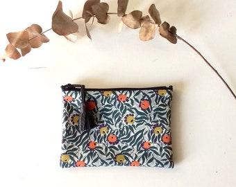 Mini pouch in fabric Liberty Huckelberry