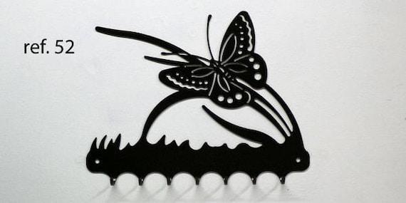 Keys hanging metal pattern: Butterfly