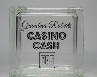 Unique Valentines Gift Idea for Grandmother - Funny Gambler Gift - Personalized Casino Savings Coin Jar - Birthday Gift Idea for Grandmother