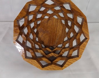 Small Oak Wood Basket