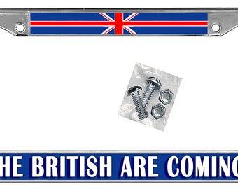 British Flag License Plate Frame Personalize Gifts Girls Ladies Men Plate Holder England Union Jack Flag Frame