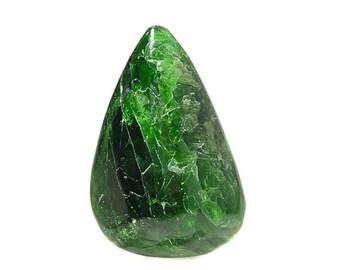 Émeraude vert Chrome Diopside pierre semi-précieuse, poli lâche désactivé bijou, bijou de collectionneur de connaisseur, bricolage Fine Jewelry Making