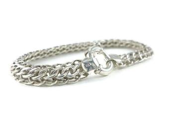 Mens silver Bracelet, Heavy Chain Bracelet, mens statement bracelet, mens large bracelet, mens massive jewelry, rocker jewelry mens bracelet