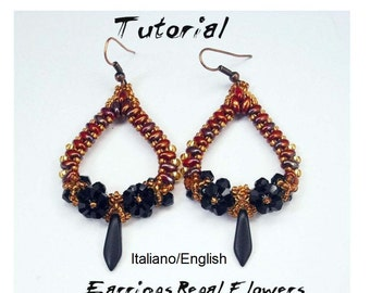 Tutorial Earrings Regal Flowers (Tutorial Grafico In Italiano and in English)