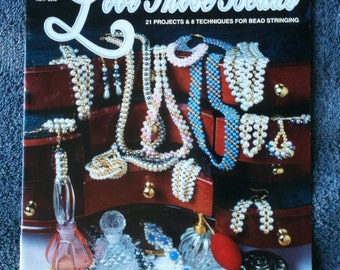 Love Those Beads Vintage Beading Book 21 Projects and 8 Techniques for Bead Stringing Hot Off the Press 1995 Deserdog Destash  b46