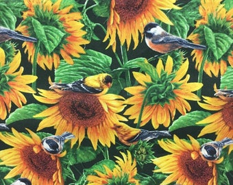 Sunflower Fabric By the Yard 36 Inches Long