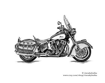Motorcyclist Motorcycle Wall Art Motorcycle Picture Motorcycle Poster Motorcycle Print Vintage Motorcycle Motorcycle Gifts