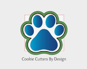 Paw Print Cookie Cutter / Dog Paw Print Cookie Cutter / Animal Print Cookie Cutter / Cookie Cutter / 3D Printed Cookie Cutters