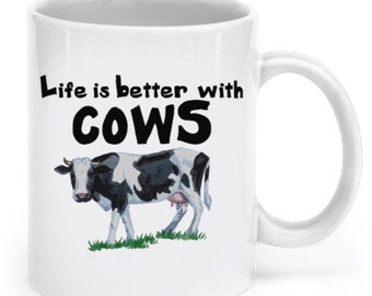 Cow 11oz Coffee Mug, Tea Mug - Cows, Cattle