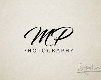 Initials Signature - Premade logo and Photography logo - Watermark