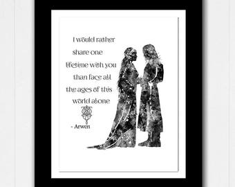 Lord of the Rings Arwen and Aragorn Love Quote - Greetings/Birthday/Keepsake - Buy 2 Get 1 FREE