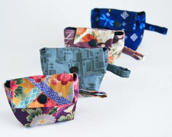 Keychain pouch from Japanese fabric, mini pouch, accessory pouch, earring holder from Japanese cotton