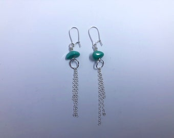 Turquoise Silver Fringe Earring