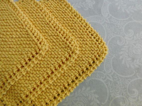 Yellow Dishcloth Trio