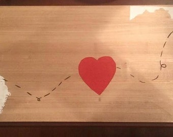 From our Home to Yours with love - State to state wooden sign