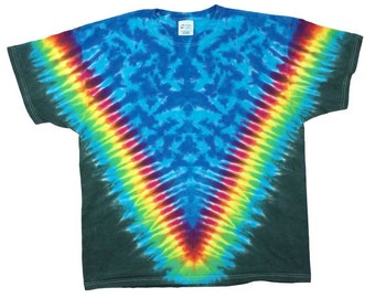 Tie Dye T-Shirt - V Rainbow Forest