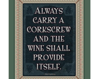 Arts and Crafts Mission Style Unframed Print. Wine subject. Great for Arts and Crafts, Mission style  homes.