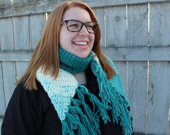 Triangle Fringe Ombre Scarf