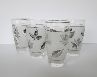Frosted Libbey Leaf Glasses