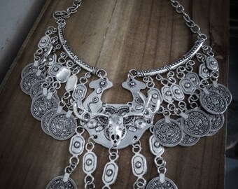 Plata collar Bohemia ciervos ♰ Hunger Games ♰