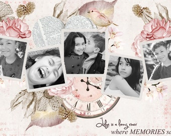 Vintage romantic photo editing