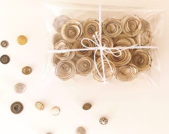 30 x Tiny Vintage Music Paper Roses - Vintage Inspired