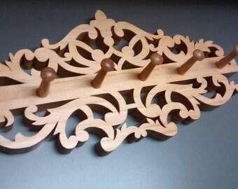 Victorian style hook rack
