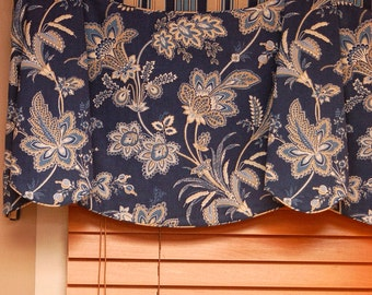 """Custom Wide Width Valance JORDAN Hidden Rod Pocket® Valance fits 87""""- 106"""" window Made with your fabric, Includes LABOR and LINING"""