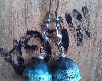 Ceramic fathers lichen earrings