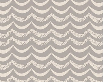 Simply Silver, Art Gallery Fabrics, Littlest Collection, Chevron Fabric, Fabric by the yard, LT-20034