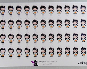 Planner Girl Series planner stickers - Cooking - Available in 4 variations