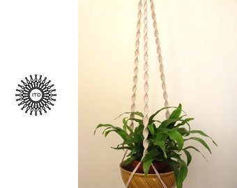 macrame cotton plant hanger /long/natural cotton/twist/