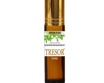 Tresor Perfume Oil. Custom Blend Premium Perfume Oil. Similar Base Notes to Lancome Tresor Perfume for Women in a 10ml Amber Glass Roll On