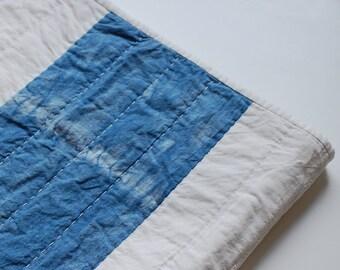 Hand Dyed Indigo Stripe Quilt II
