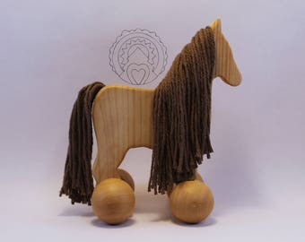 WildFlower Pony Push Toy