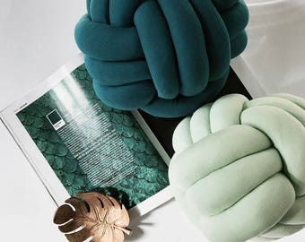Modern Knot Pillows , Knot Cushion , Teal decor  , Mint , beach  , decorative pillows , minimalist , Neutical , sail , Scandinavian decor