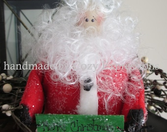 Santa | Santa Claus | Merry Christmas | Christmas decor | holiday decorations | Santa Claus Doll