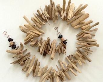 Driftwood Garland - Beach Wedding  Decor - Surf tumbled natural wood -  64 inches  - Ocean  Inspired - Hawaiian driftwood