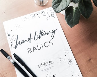 Calligraphy guide etsy