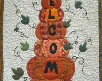 Autumn Welcome Wall Quilt Pattern, PDF version