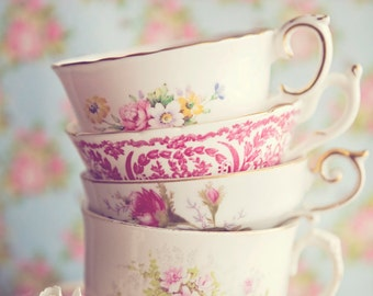 Stacked Teacups ~ 8x10 print