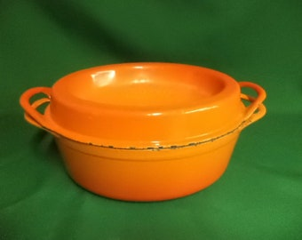 Vintage Cousances, Vintage Le Creuset, Vintage Casserole Pot, Cousances Doufeu, Le Cresuet Stockpot, Le Creuset Cooking Pot,  (ref 95eF)