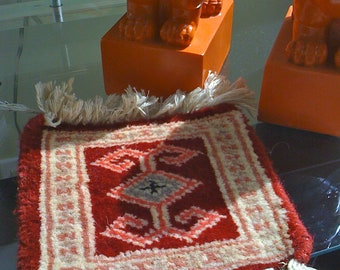 Vintage Tribal Navajo Indian Southwest Small Rug, Table Mat, Southwestern, Ethnic, Boho