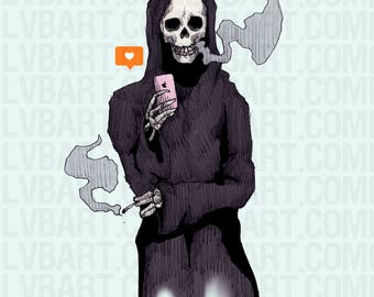 Bored To Death Fine Art Print