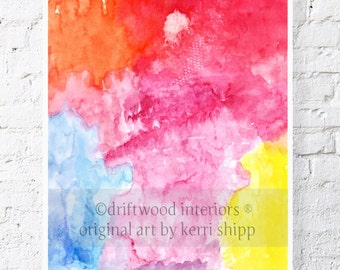 "Abstract Watercolor Print Sway 11 x 14"" - Abstract Giclee Print - Modern Abstract Watercolour Print"