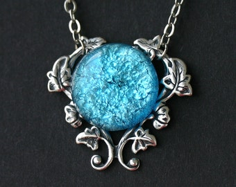 Turquoise Blue Fire Opal Necklace