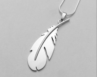 Sterling Silver feather necklace / Sterling silver feather necklace